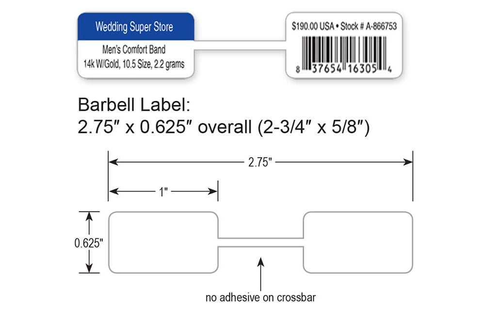 Small Poly Barbell Labels
